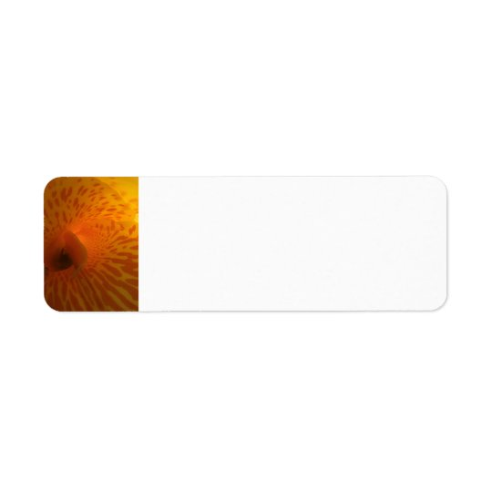 Yellow and Red Dots Flower Return Address Label