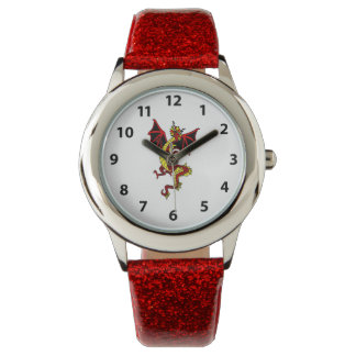 Yellow And Red Dragon Watch