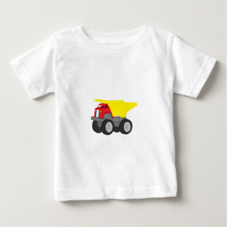 Yellow and Red Dump Truck Construction Vehicle Baby T-Shirt