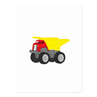 Yellow and Red Dump Truck Construction Vehicle Postcard
