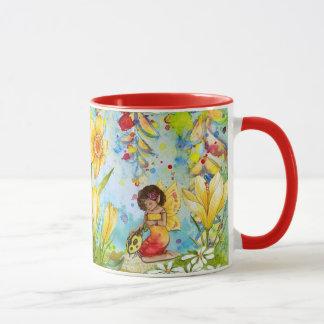 Yellow and Red Fairy Tale Coffee Mug