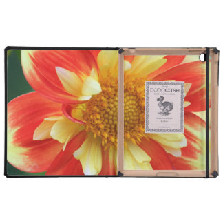 Yellow and Red Flower mf Cover For iPad