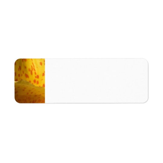 Yellow and Red Flower Return Address Label