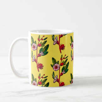 Yellow And Red Flower Sprigs Floral Mug