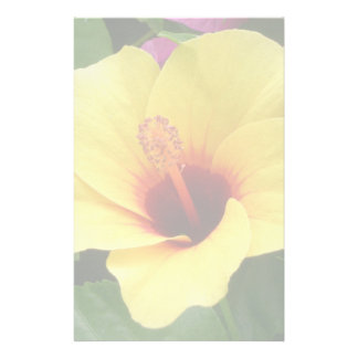Yellow and Red Hibiscus Stationery