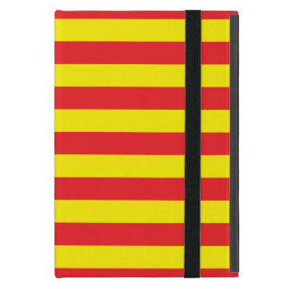 Yellow and Red Horizontal Stripes Cover For iPad Mini