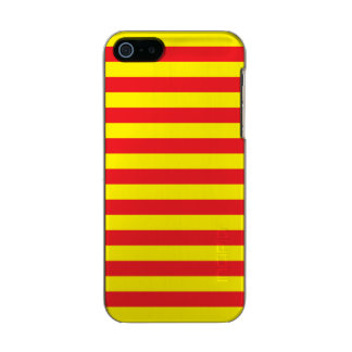 Yellow and Red Horizontal Stripes Incipio Feather® Shine iPhone 5 Case