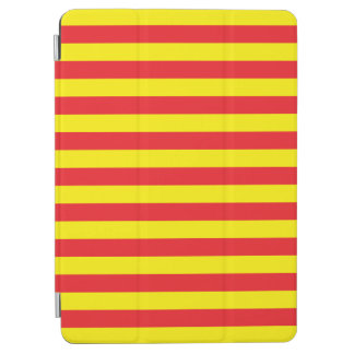Yellow and Red Horizontal Stripes iPad Air Cover
