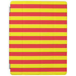Yellow and Red Horizontal Stripes iPad Cover