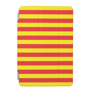 Yellow and Red Horizontal Stripes iPad Mini Cover