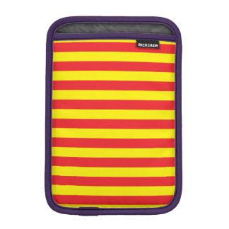 Yellow and Red Horizontal Stripes iPad Mini Sleeve