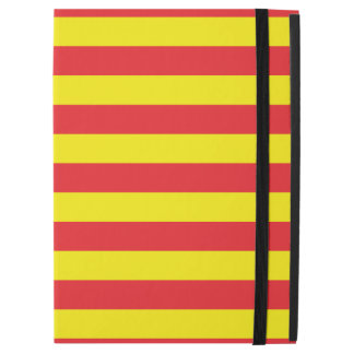 """Yellow and Red Horizontal Stripes iPad Pro 12.9"""" Case"""