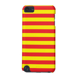 Yellow and Red Horizontal Stripes iPod Touch (5th Generation) Cover