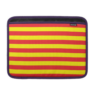 Yellow and Red Horizontal Stripes MacBook Air Sleeve
