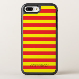 Yellow and Red Horizontal Stripes OtterBox Symmetry iPhone 8 Plus/7 Plus Case