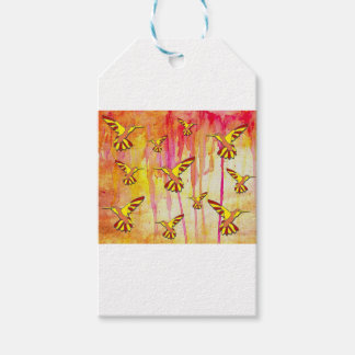 YELLOW AND RED MAKES ORANGE GIFT TAGS