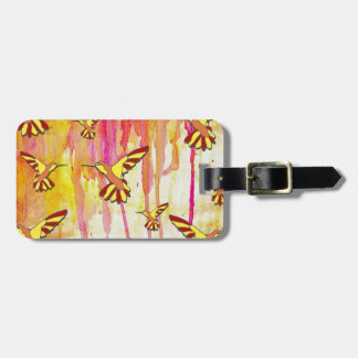 YELLOW AND RED MAKES ORANGE LUGGAGE TAG
