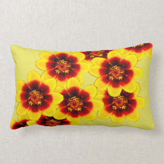 yellow and red pillow