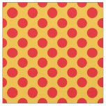 Yellow and Red Polka Dot Fabric
