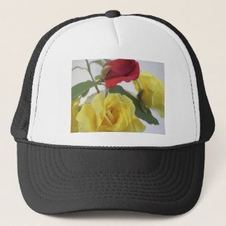 Yellow and Red Roses Trucker Hat