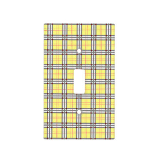 Yellow and Red Tartan Plaid Pattern Light Switch Cover