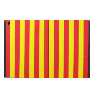 Yellow and Red Vertical Stripes Case For iPad Air