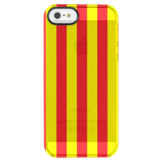 Yellow and Red Vertical Stripes Clear iPhone SE/5/5s Case