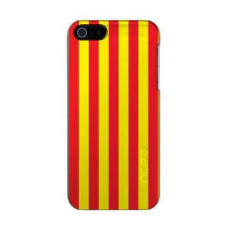Yellow and Red Vertical Stripes Incipio Feather® Shine iPhone 5 Case