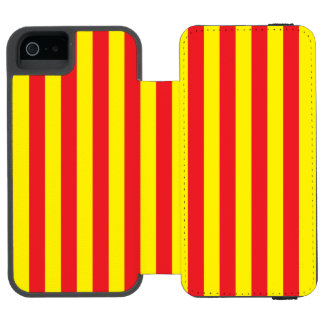 Yellow and Red Vertical Stripes Incipio Watson™ iPhone 5 Wallet Case