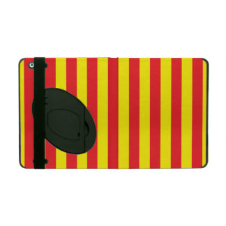 Yellow and Red Vertical Stripes iPad Folio Case
