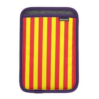 Yellow and Red Vertical Stripes iPad Mini Sleeves