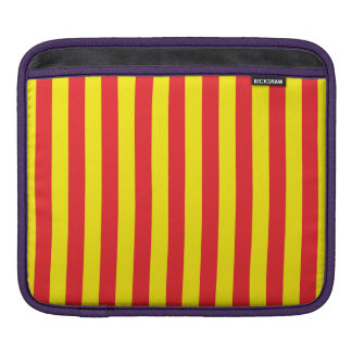 Yellow and Red Vertical Stripes iPad Sleeve