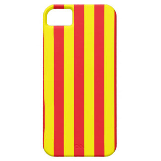 Yellow and Red Vertical Stripes iPhone 5 Covers