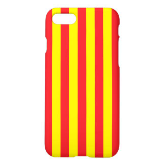 Yellow and Red Vertical Stripes iPhone 8/7 Case