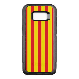Yellow and Red Vertical Stripes OtterBox Commuter Samsung Galaxy S8+ Case
