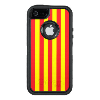 Yellow and Red Vertical Stripes OtterBox iPhone 5/5s/SE Case