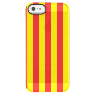 Yellow and Red Vertical Stripes Permafrost® iPhone SE/5/5s Case