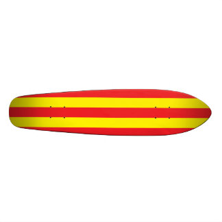 Yellow and Red Vertical Stripes Skateboard Decks