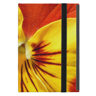 Yellow and Rusty Red Pansy Case For iPad Mini