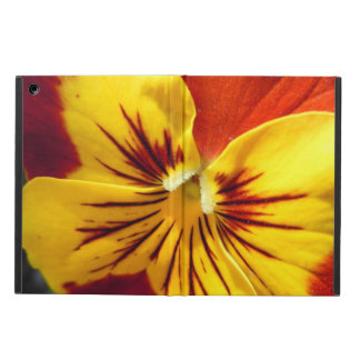 Yellow and Rusty Red Pansy iPad Air Case