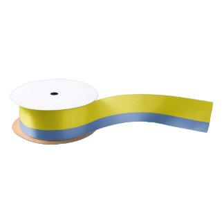 Yellow and Sky Blue Ribbon Satin Ribbon