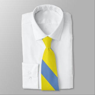 Yellow and Sky Blue University Stripe Tie