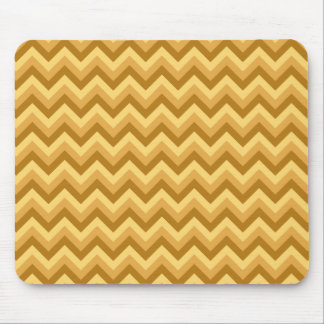 Yellow and Tan Zigzag Stripes. Mouse Pad