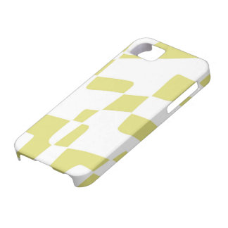 Yellow and White Abstract Minimalist Squares Case For The iPhone 5
