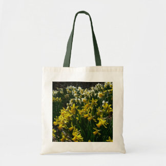 Yellow and White Daffodils Spring Flowers Tote Bag