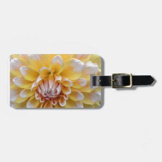 Yellow and White Dahlia Luggage Tag