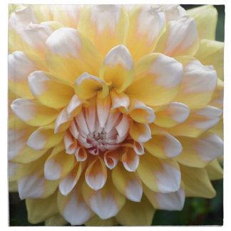 Yellow and White Dahlia Napkin