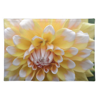 Yellow and White Dahlia Placemat