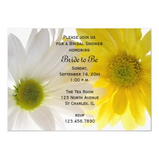 Yellow and White Daisies Bridal Shower Invitation