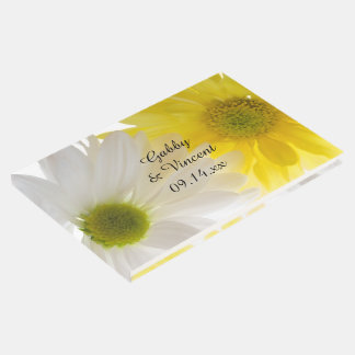 Yellow and White Daisies Wedding Guest Book
